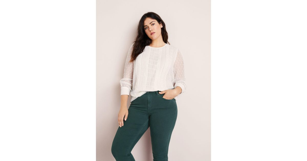 Julia Slim By In Violeta Green Jeans Fit Lyst Mango 6R7w7q