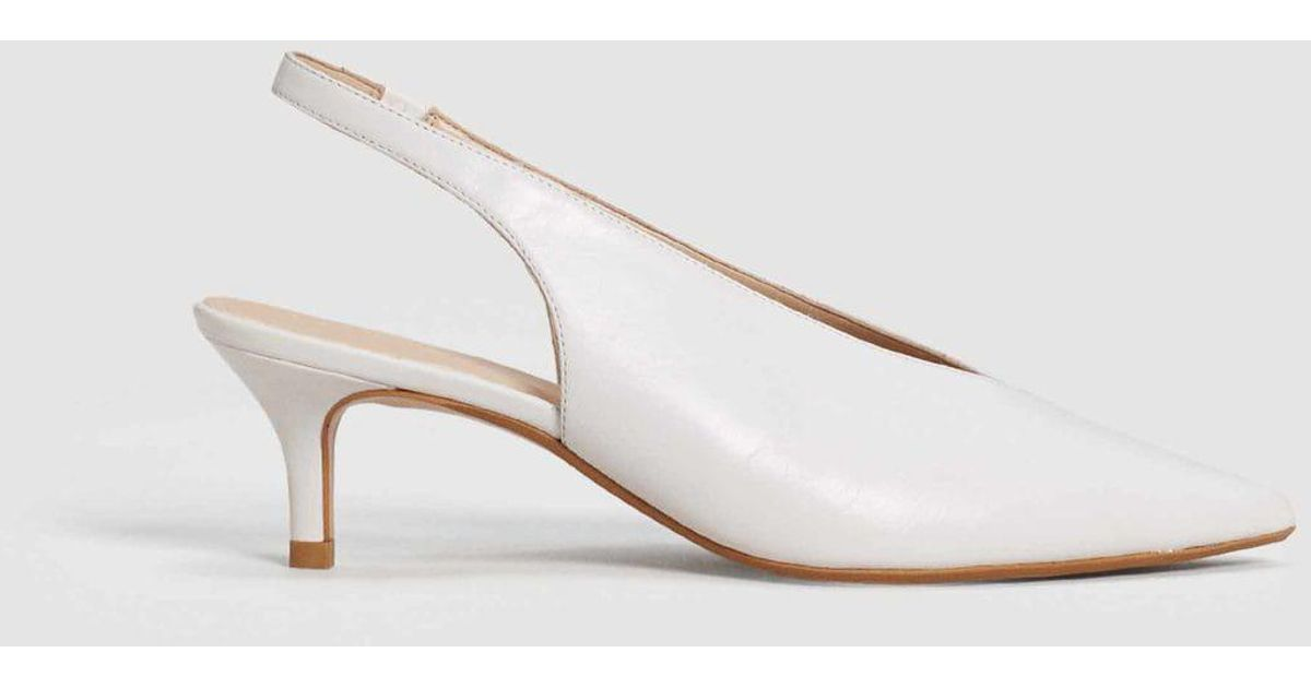 87d7f1e5ca5b Lyst - Mango Slingback Leather Shoes in White