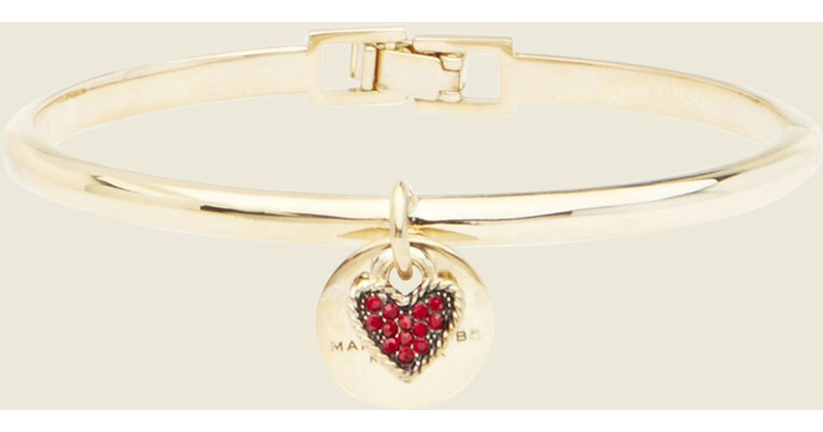 Lyst - Marc Jacobs Mj Coin Hinge Cuff in Red 11c78fd3e7b8