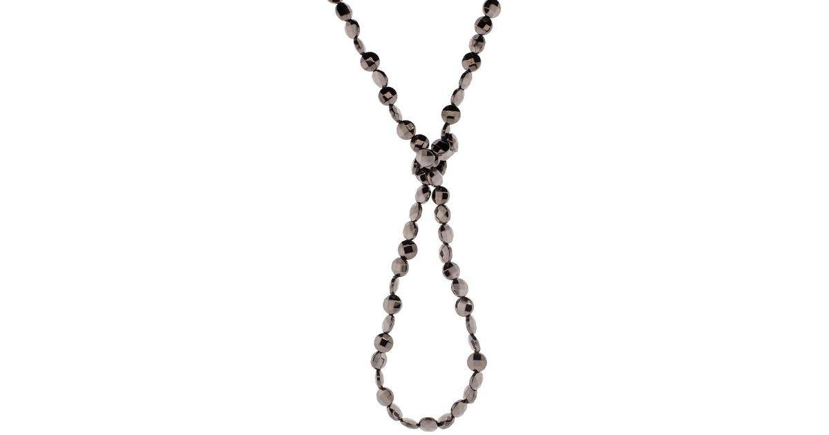 Brunello Cucinelli Variegated Choker Necklace w/ Long Monili Drop ySOKrlf
