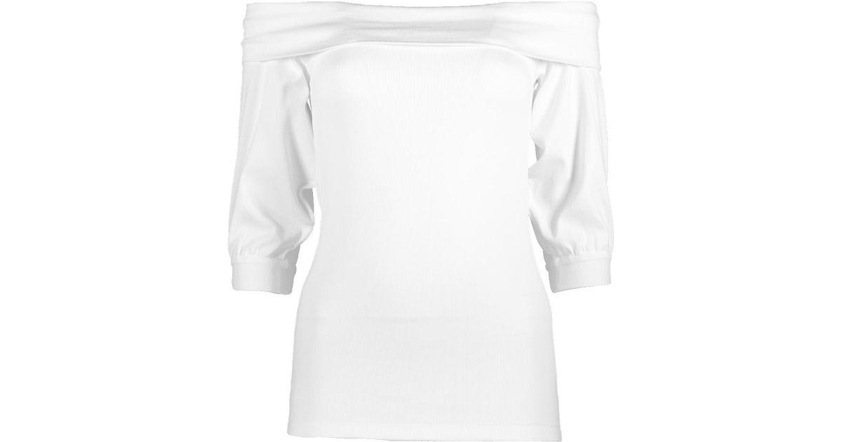 White off-shoulder T-shirt Brunello Cucinelli Free Shipping 100% Original Great Deals B4EaYZV