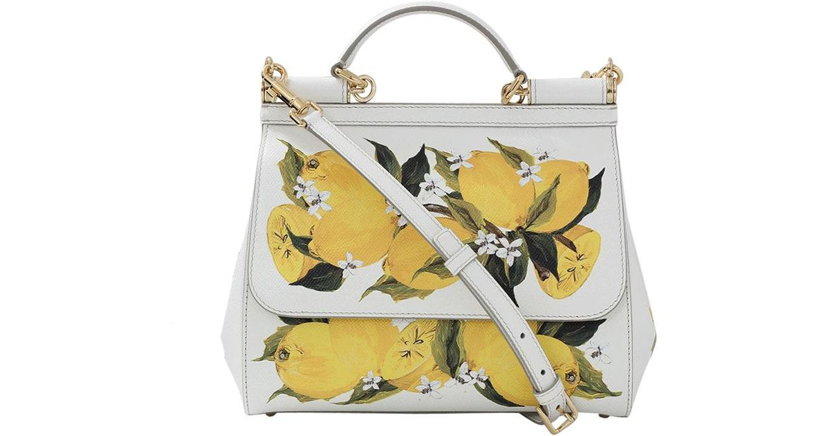 Lyst - Dolce   Gabbana Lemon Print Miss Sicily in Yellow 43badcf2ac25b
