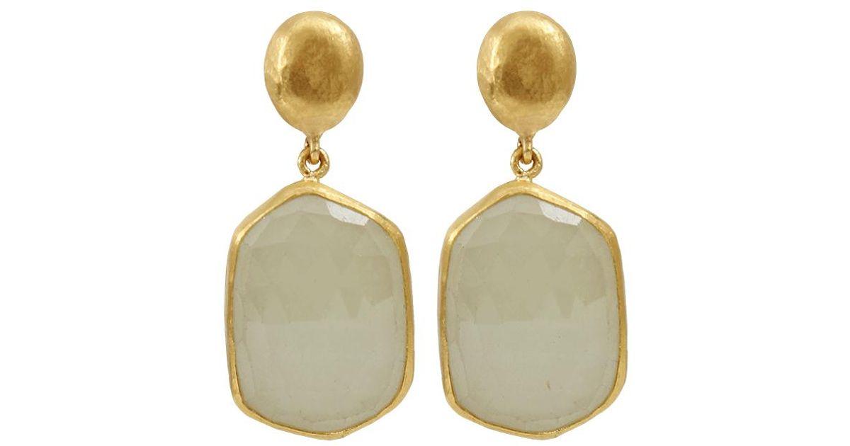 4596f92ef5c Yossi Harari - Roxanne Light Green Sapphire Slice Earrings - Lyst