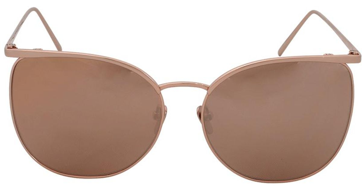 054c84c2bc0 Linda Farrow Aviator Sunglasses in Metallic - Lyst