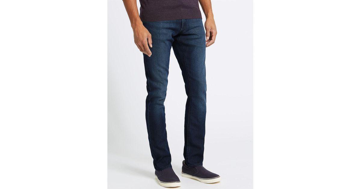 92361620d81c Marks & Spencer Slim Fit Stretch Travel Jeans in Blue for Men - Lyst