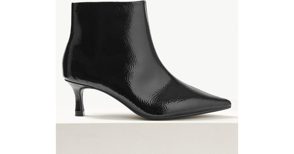 91f1bd291d79 Marks   Spencer Wide Fit Kitten Heel Ankle Boots in Black - Lyst