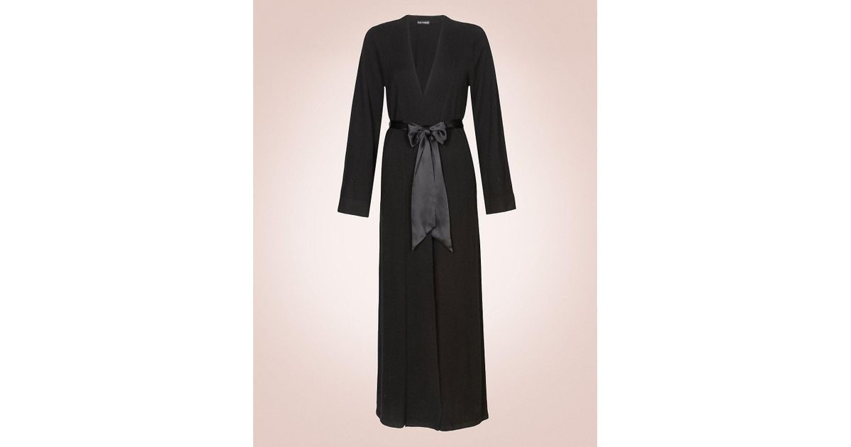 ed10ab8bbb Marks   Spencer Luxurious Pure Cashmere Long Dressing Gown in Black - Lyst