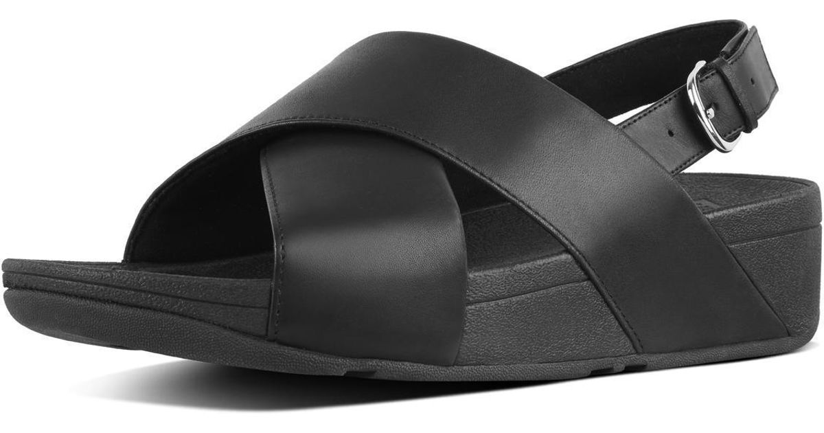 c1bc91d70 Fitflop Lulu Cross Back-strap Sandals in Black - Save 25% - Lyst