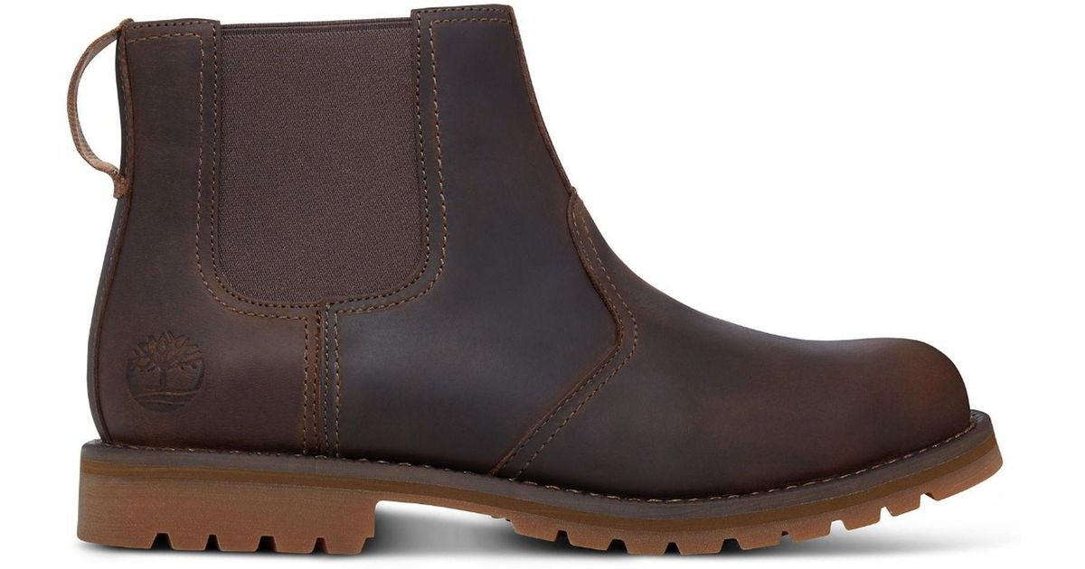d2eb799c37e0 Timberland Larchmont Chelsea Leather Boots in Brown for Men - Save 12% -  Lyst