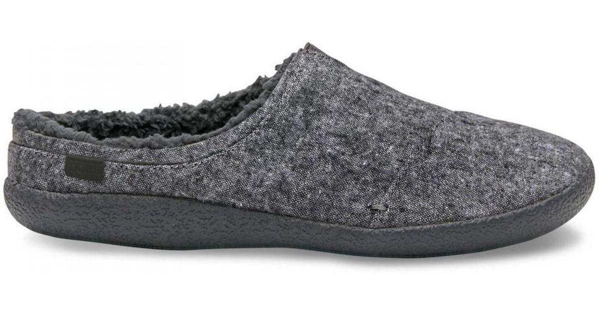 51e9519967bb Toms Berkeley Indoor Outdoor House Slippers in Gray for Men - Lyst