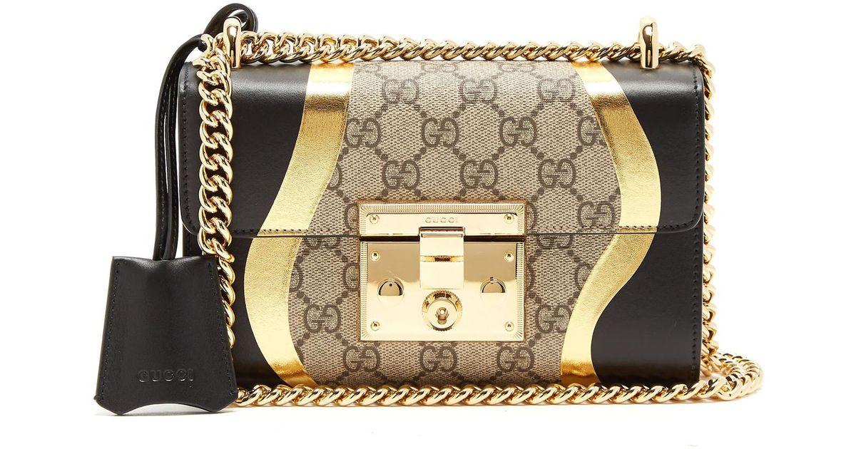 465efa66e876 Gucci Padlock Gg Supreme Leather Shoulder Bag - Lyst