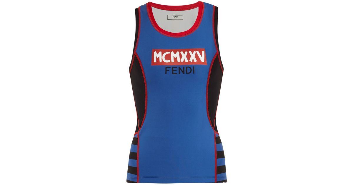 Ebay For Sale Discount Nicekicks MCMXXV and logo-print performance tank top Fendi RRzjU5