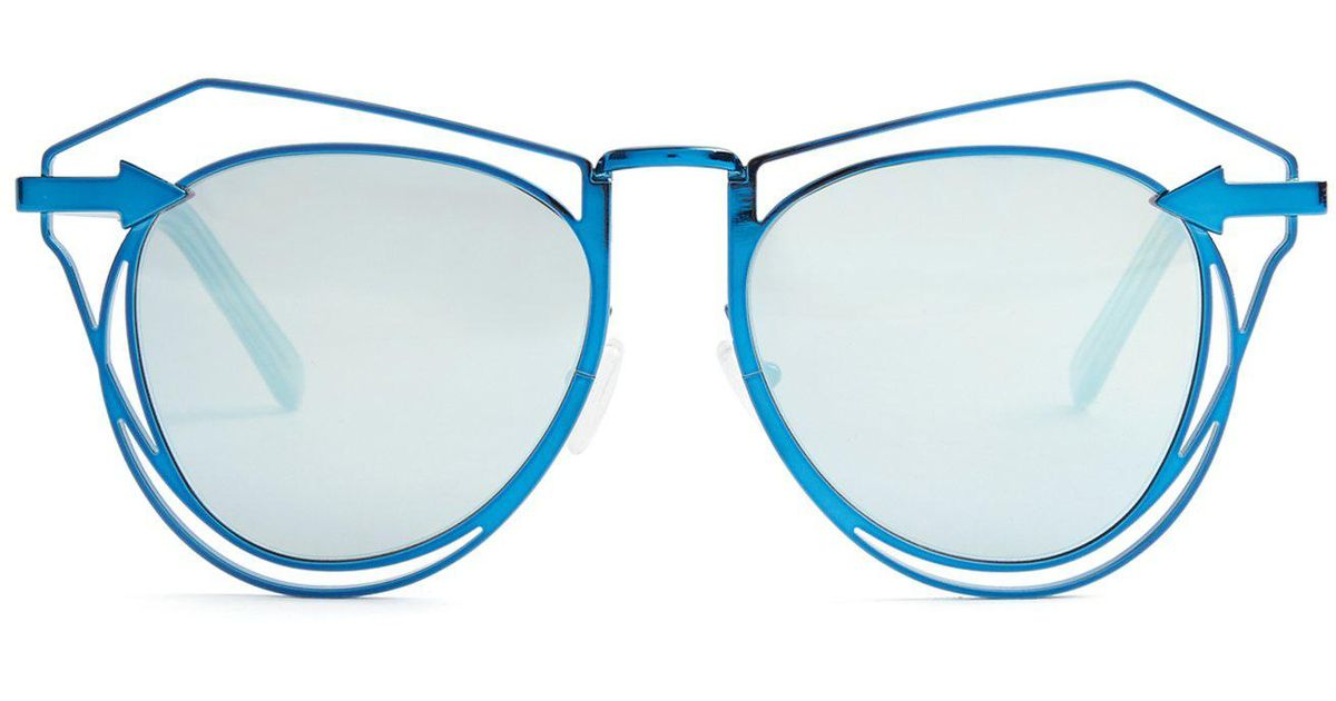 086650dc62563 Karen Walker Marguerite Cat-eye Sunglasses in Blue - Lyst