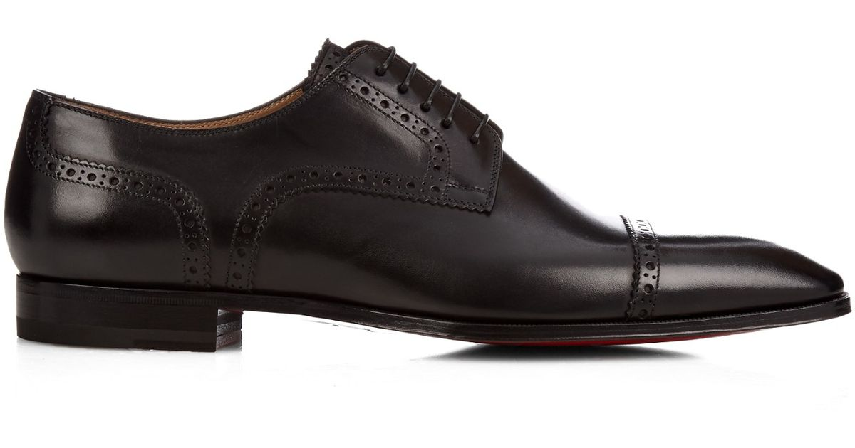 christian louboutin cousin charles leather dress shoes in
