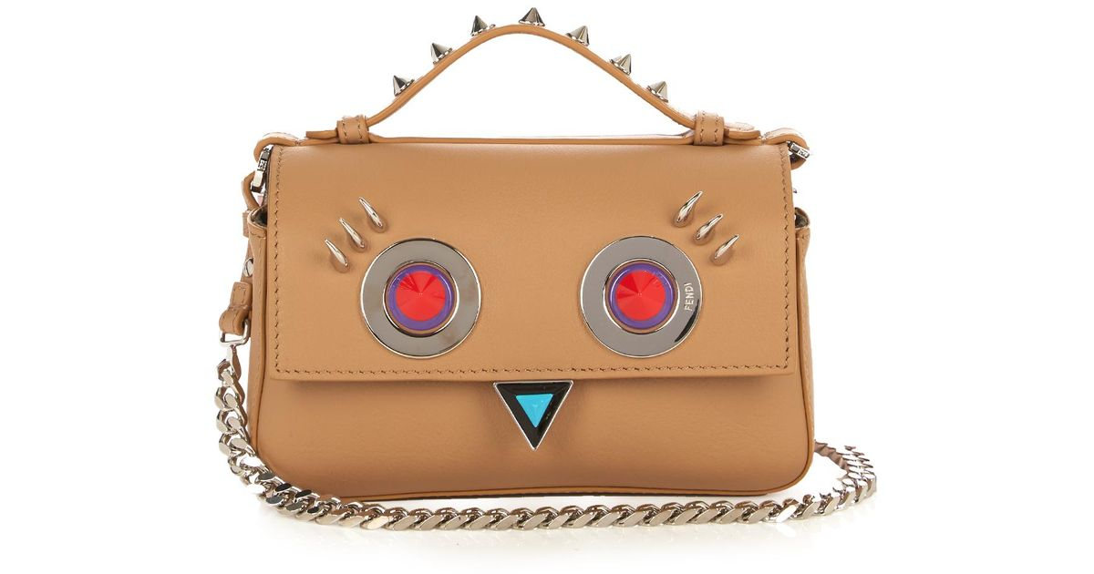 5f7af67407 Fendi Double Micro Baguette Hypnoteyes Cross-body Bag - Lyst