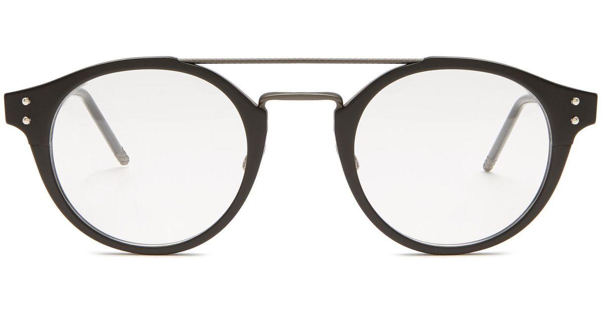 Lyst - Bottega Veneta Round-frame Acetate Glasses in Black for Men
