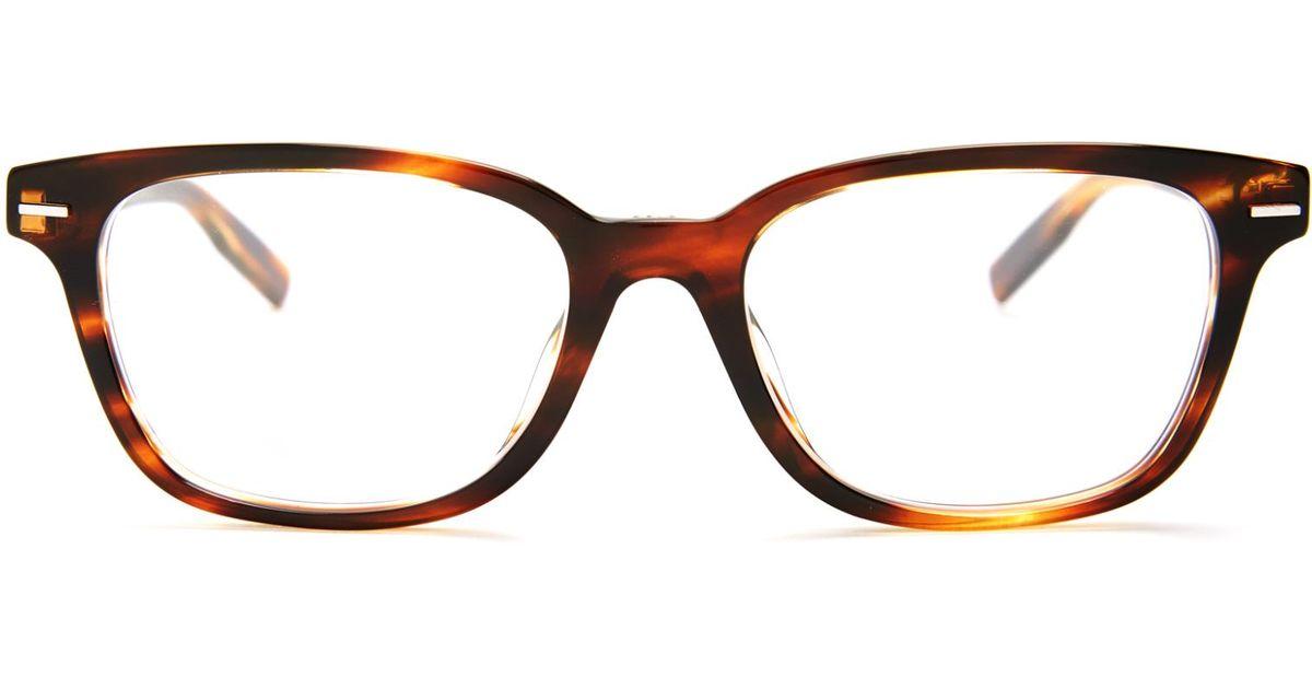 Lyst - Dior Homme Blacktie 224 Rectangle-frame Glasses in Brown for Men