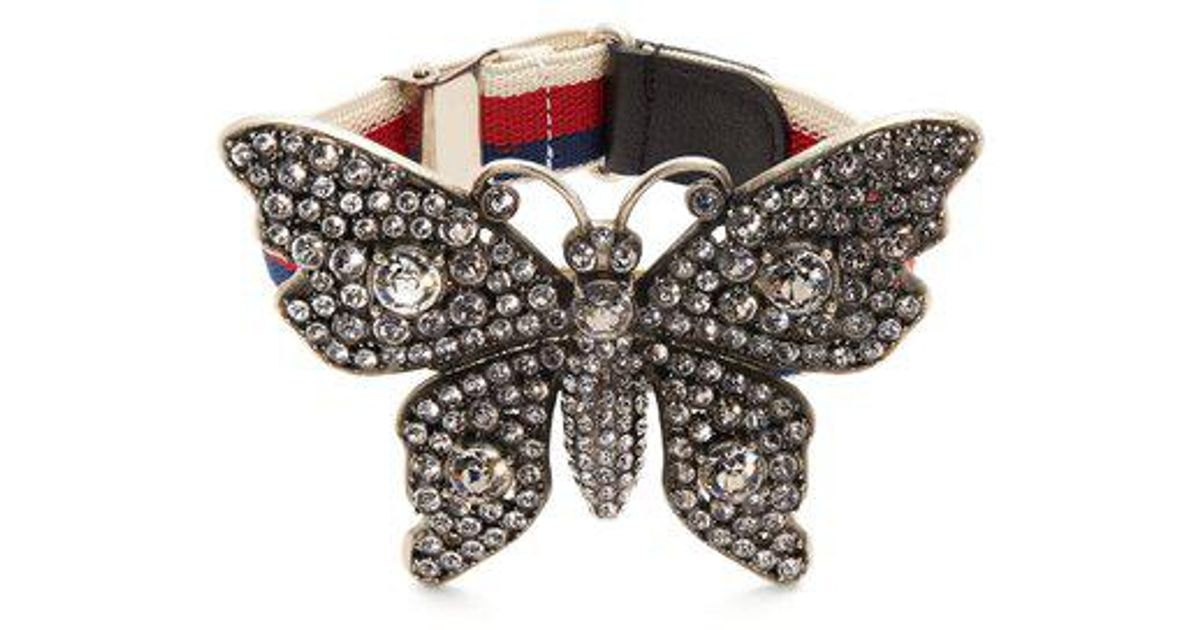 Bracelet Papillon Orné De Cristal Gucci GMWNkv40z8