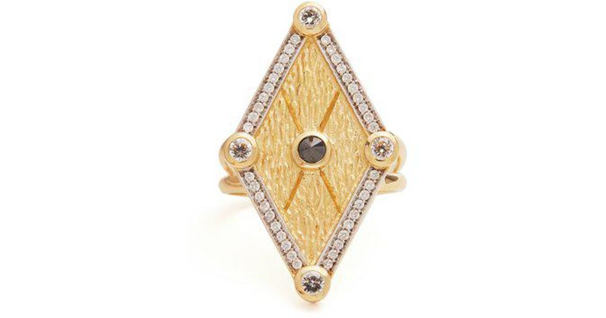 X Kate Moss diamond & gold ring Ara Vartanian TYCUQCgC