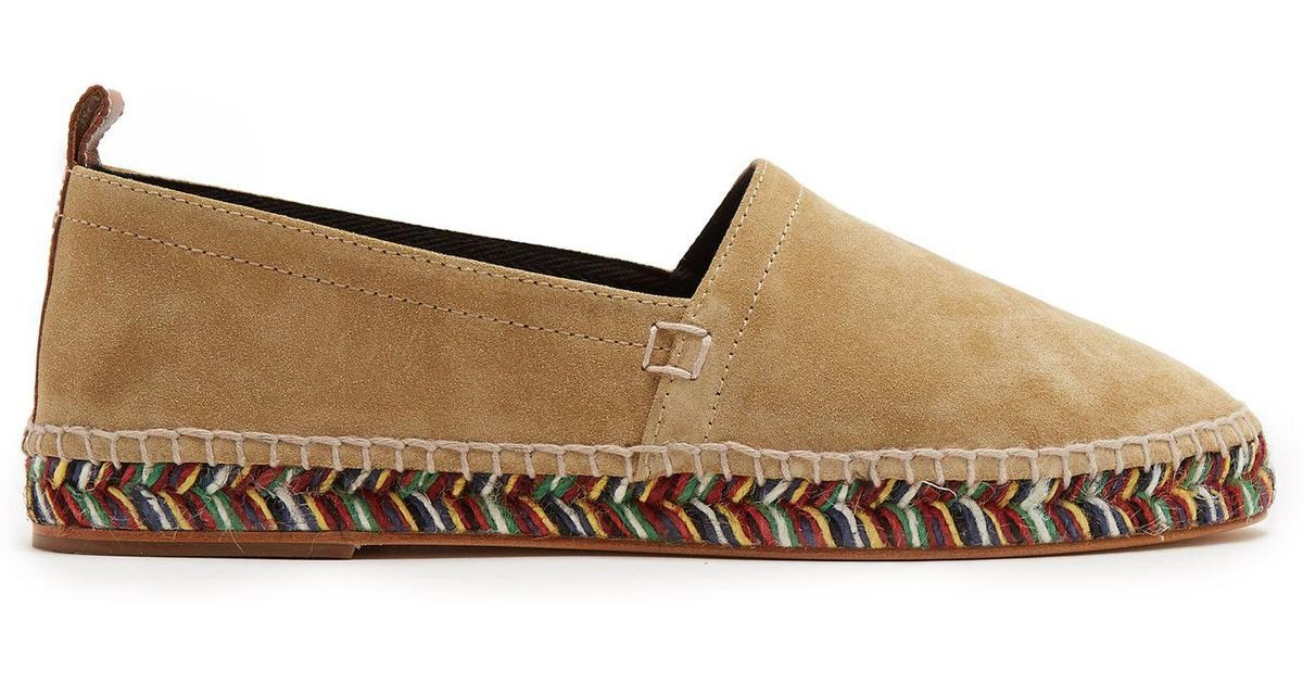958b51f261942 Lyst - Loewe Round-toe Suede Espadrilles in Natural for Men