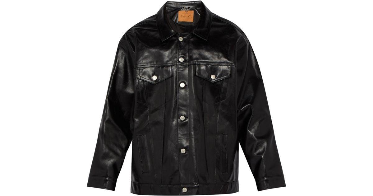 meilleure sélection 47425 79036 Martine Rose - Black Veste en cuir oversize for Men - Lyst