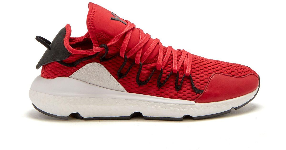 ea8022ea84373 Lyst - Y-3 Kusari Boost Run Low-top Trainers in Red for Men
