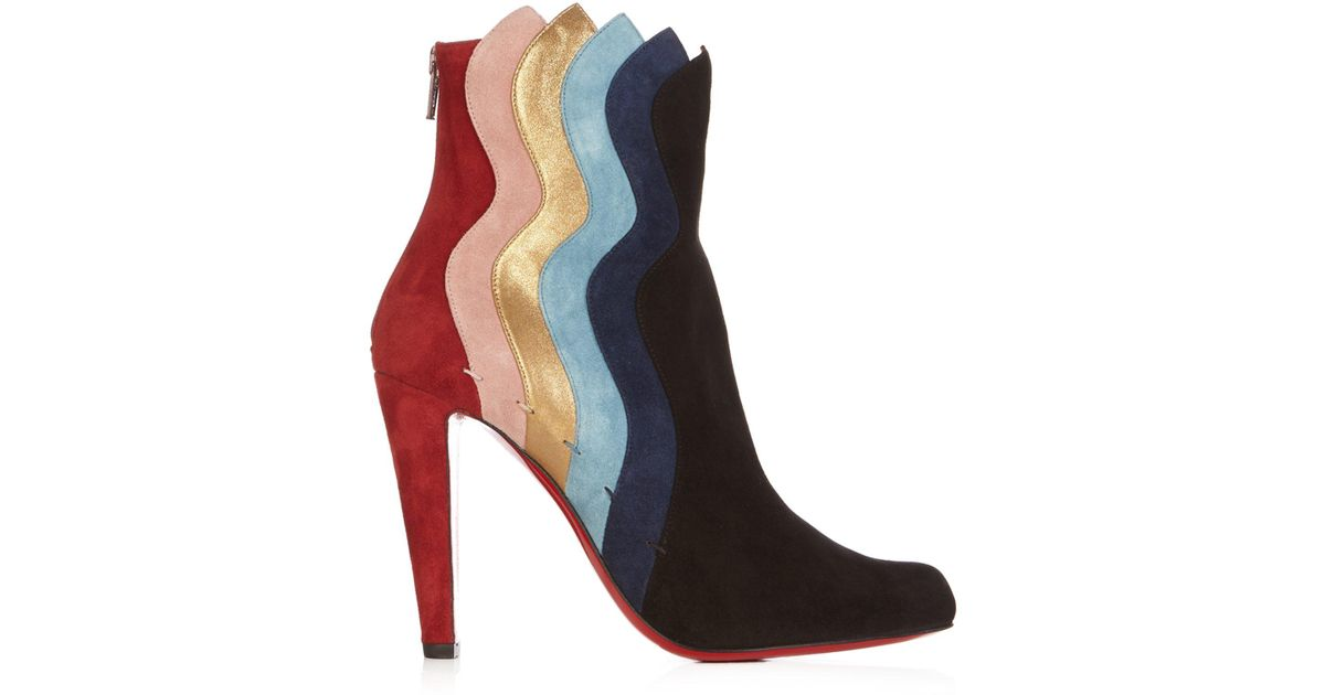 wholesale dealer 1c9a1 2379a christian-louboutin-multi-Wavy-95-Panelled-Suede-Ankle-Boots.jpeg