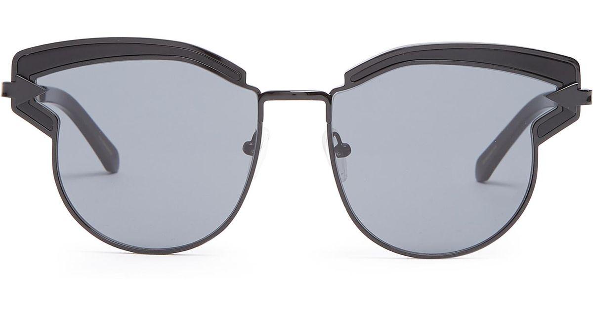 d3c21012af55 Lyst - Karen Walker Felipe Cat-eye Sunglasses in Black