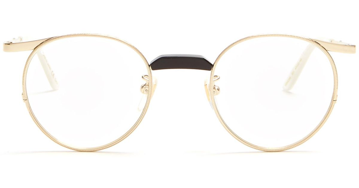 8260557df Gucci Round-frame Metal Glasses in Metallic - Lyst
