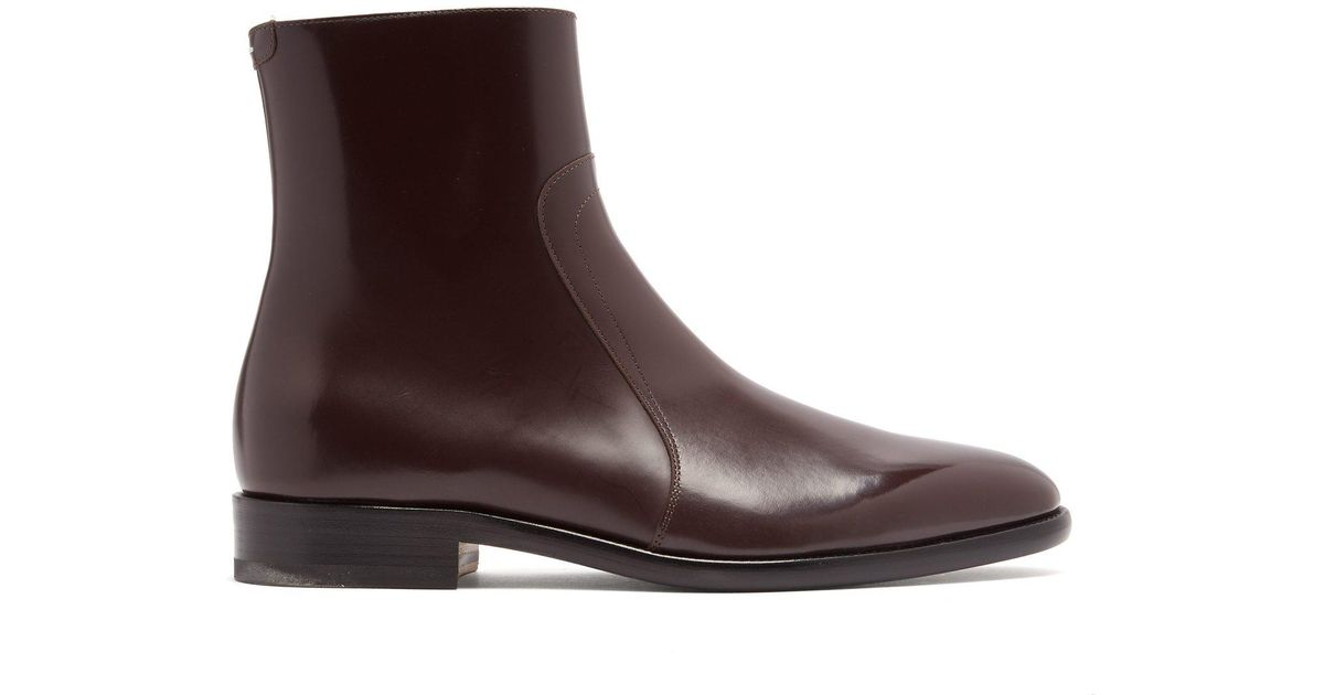 edba2cbed58ca Maison Margiela Icons Leather Chelsea Boots in Brown for Men - Lyst
