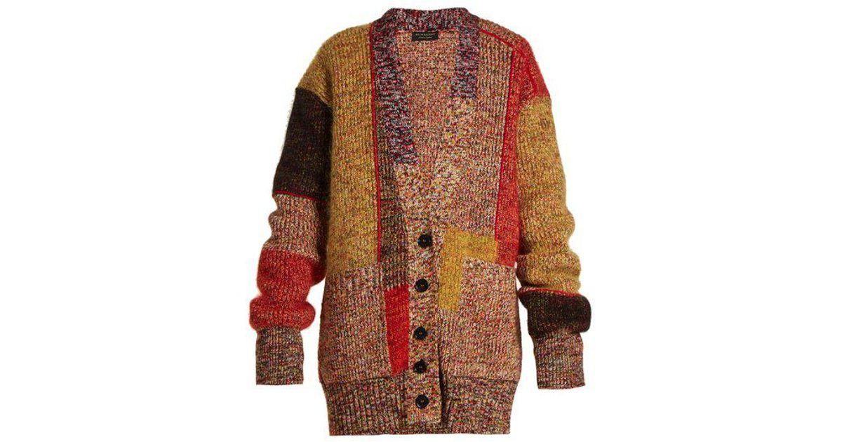 914f7e2cd7f5 Lyst - Burberry V-neck Drop-shoulder Knit Cardigan