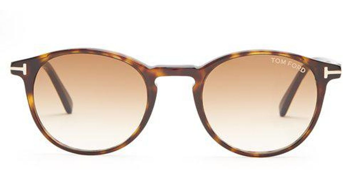 500a1eac259de Tom Ford Andrea Acetate Sunglasses in Brown for Men - Lyst
