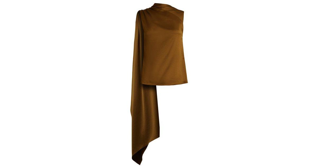 Very Cheap For Sale Marketable Online Diana draped-panel asymmetric satin top Osman Sale 2018 Newest Best Prices Cheap Online 2FaYTlLNZ