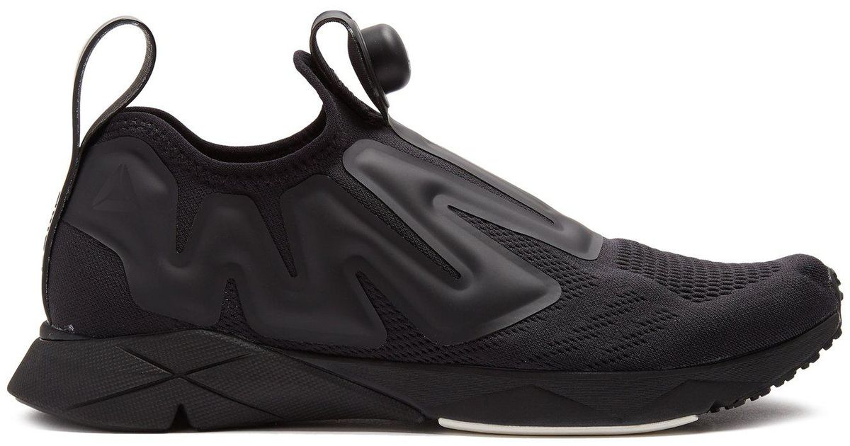 e778907007e4 Lyst - Reebok Pump Supreme Low-top Mesh Trainers in Black for Men