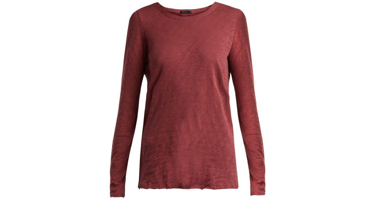 2e5ea89a53a Lyst - ATM Slub Cotton-jersey T-shirt in Red