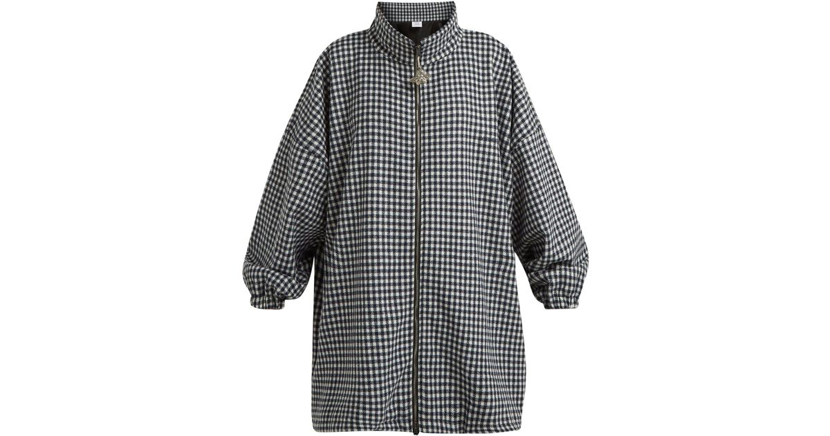 high quality materials unbeatable price 2019 original Vetements Blue Angel Gingham A-line Coat