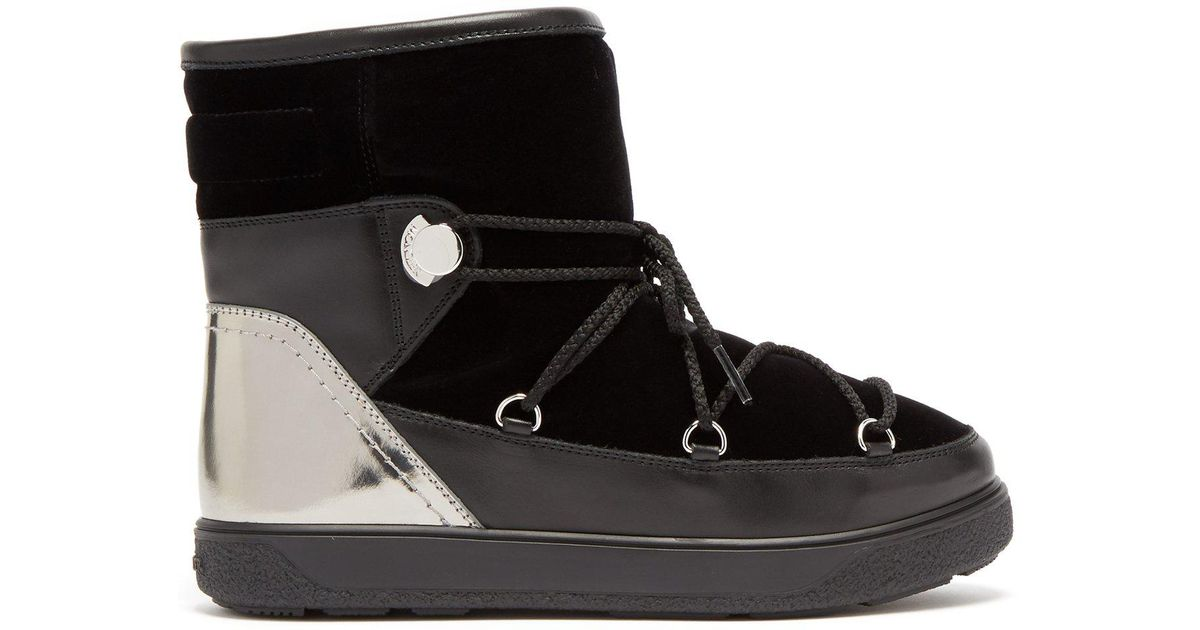 5c5761be1297 Lyst - Moncler Black Moon Boot in Black