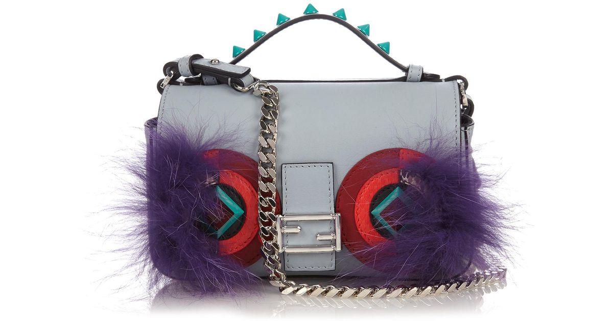 Fendi Double Micro Baguette Bag Bugs Cross-body Bag in Blue - Lyst 7cc171897c