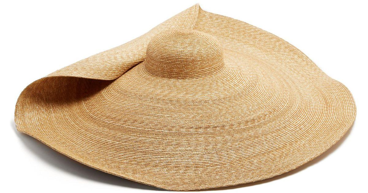 lyst jacquemus la bomba straw hat in natural