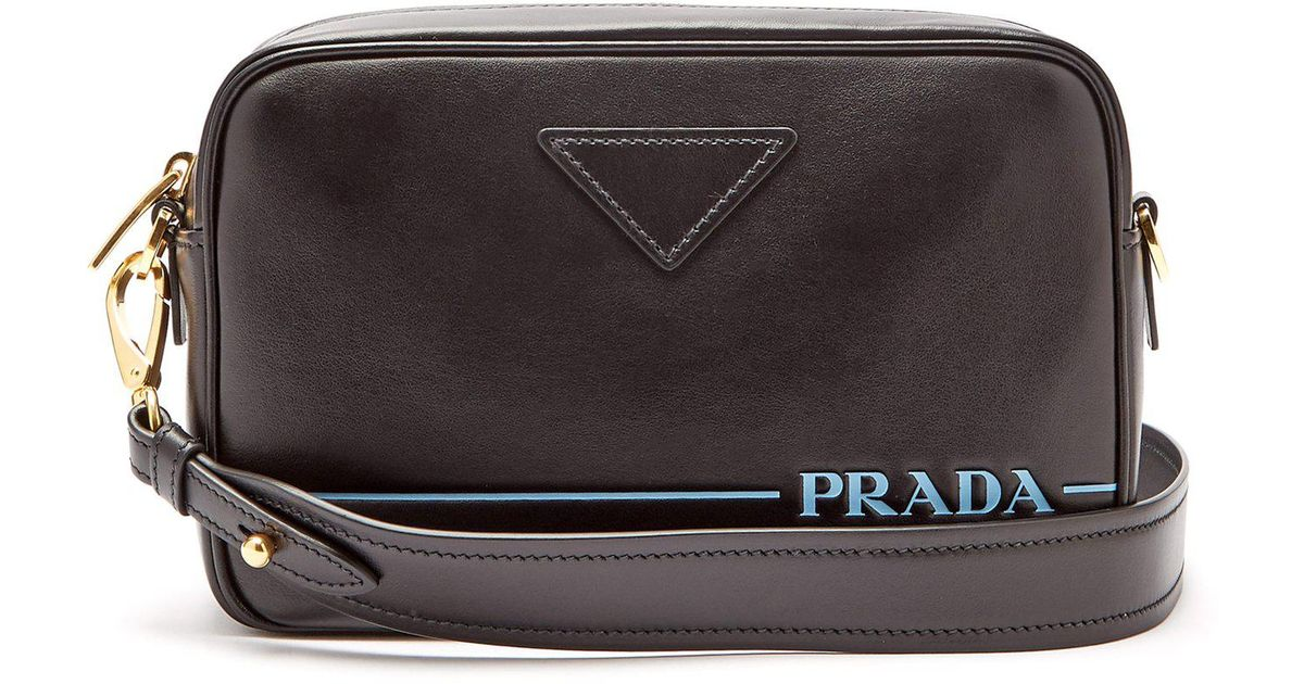 ad819fc2d9f7 Prada Mirage Leather Cross Body Bag in Black - Lyst