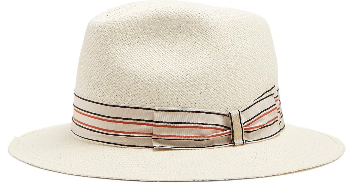 Lyst - Borsalino Quito Medium-brim Panama Hat in Natural for Men a111b7d9e4ce