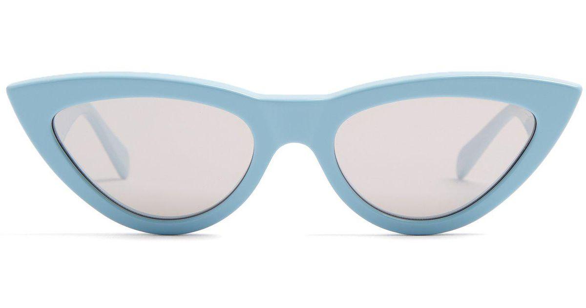 caf8a63fd121 Lyst - Céline Cat-eye Acetate Sunglasses in Blue