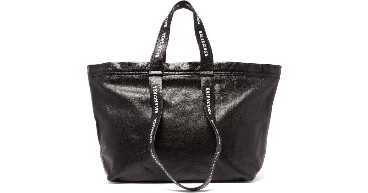 Black Balenciaga Sac Cuir Shopper S Homme Pour En Carry Coloris Nwm0y8nOv