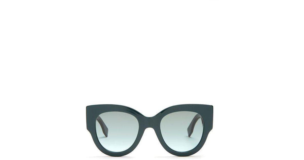 738ad97d3e Lyst - Fendi Round-frame Acetate Sunglasses in Green