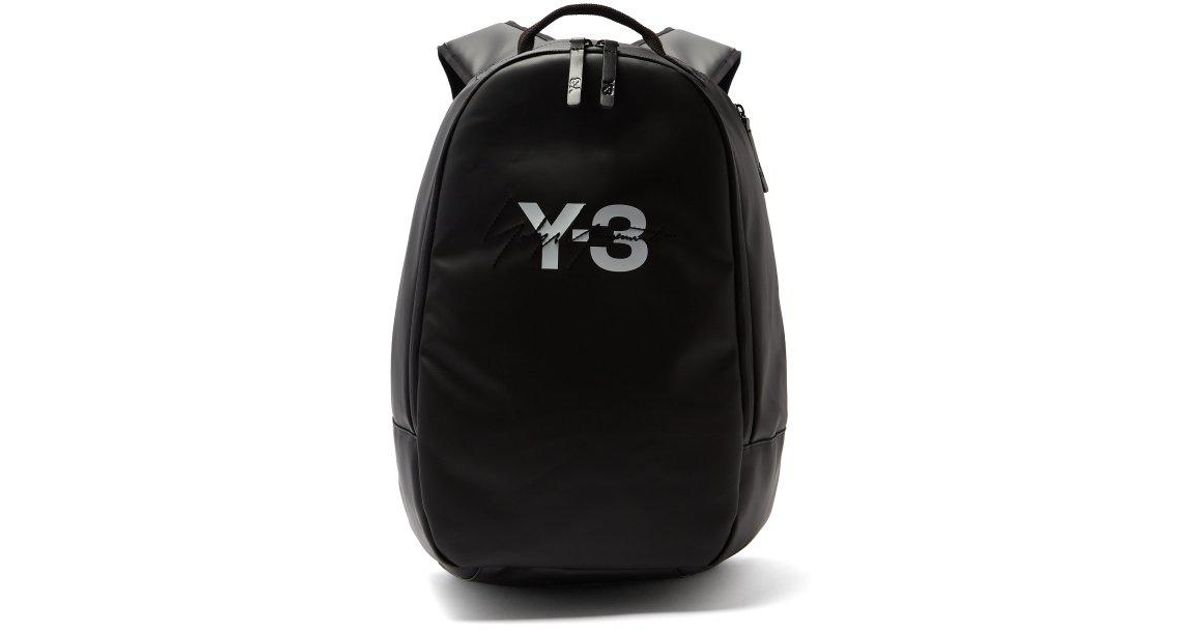 e327d11b98 Y-3 Signature Logo Backpack in Black for Men - Lyst