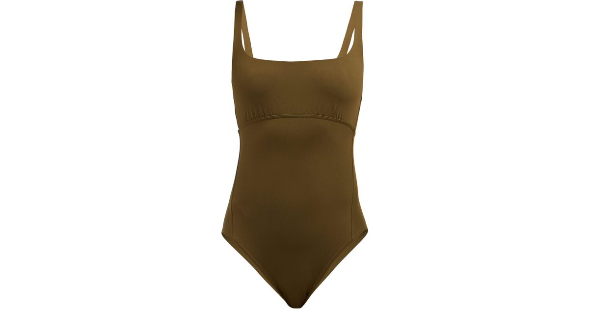 8cce74140b7 Eres - Green Duni Arnaque Scoop Neck Swimsuit - Lyst