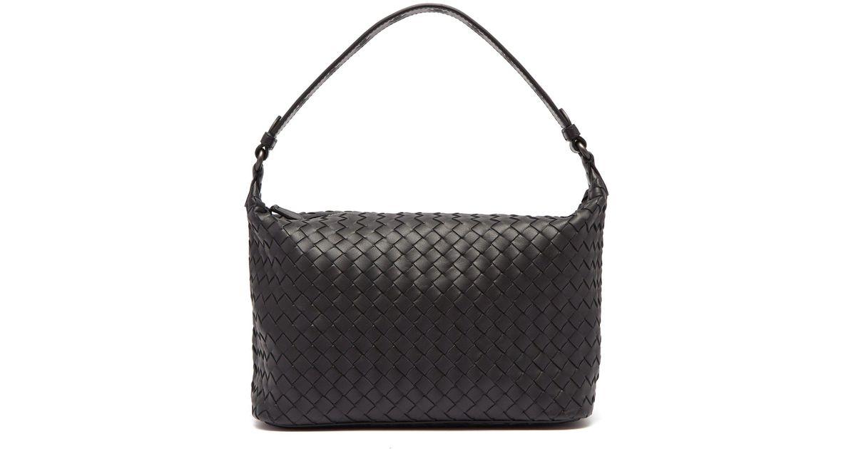 05bf660712ae Lyst - Bottega Veneta Ciambrino Intrecciato Leather Shoulder Bag in Black -  Save 6%