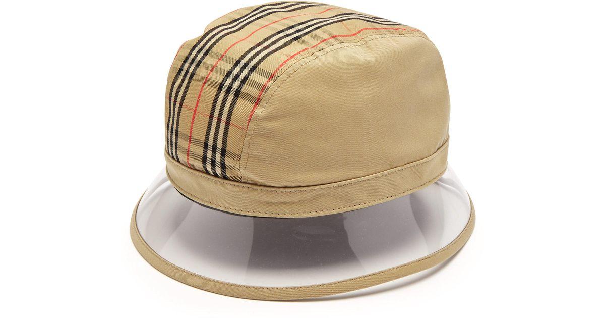 7af0a303552 Burberry 1983 Vintage Check Bucket Hat in Natural for Men - Lyst