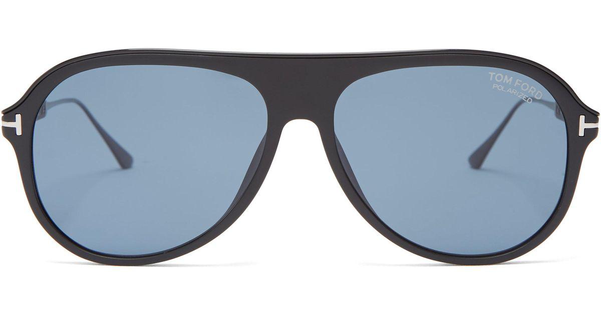 4b47e474ea0 Tom Ford Nicholai Acetate Sunglasses in Black for Men - Lyst