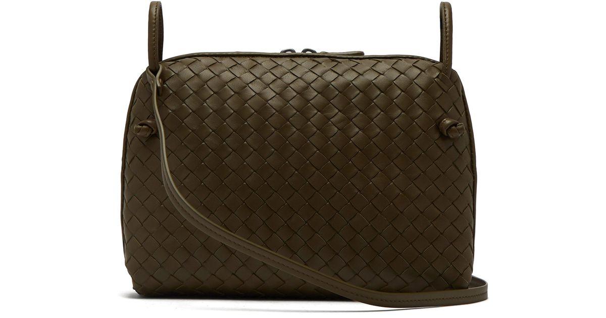 Bottega Veneta Nodini Intrecciato Leather Cross-body Bag in Natural - Lyst 94053a7a6d82c
